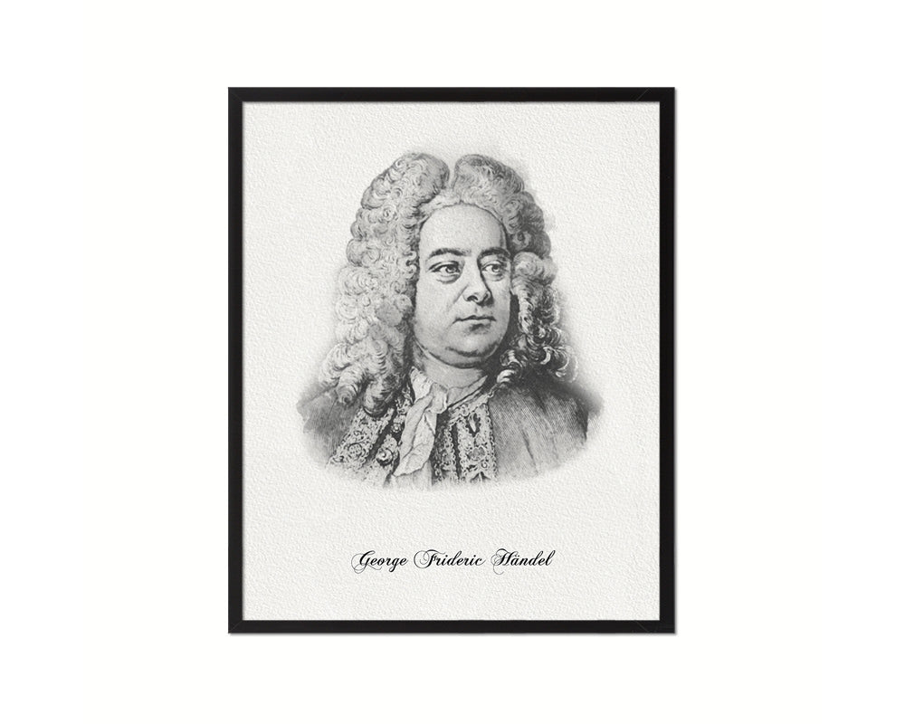 George Frideric Handel Classical Music Framed Print Orchestra Teacher Gifts Home Wall Decor