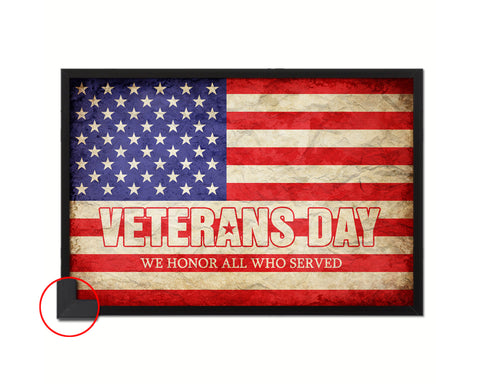 Veterans Day Thank you for your service Paper Texture Military Flag Print Frame Wall Decor Art Gifts