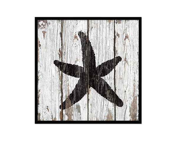 Starfish Nautical Wood Framed Gifts Ocean Beach Fishing Home Decor Wall Art Prints
