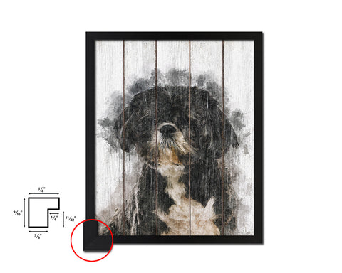 Shih Tzu Dog Puppy Portrait Framed Print Pet Watercolor Wall Decor Art Gifts