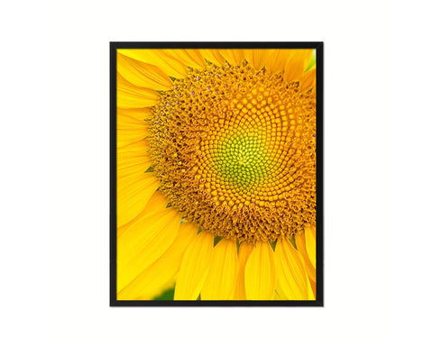 Sunflower Yellow Flower Wood Framed Paper Print Wall Decor Art Gifts