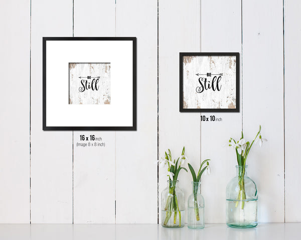Be Still Quote Framed Print Home Decor Wall Art Gifts