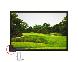 Gorgeous Golf Course Artwork Painting Print Art Wood Framed Wall Decor Gifts