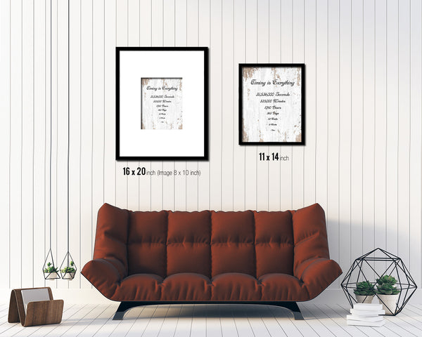 Timing is everything 1 Year 12 Months Quote Framed Print Home Decor Wall Art Gifts