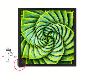 Aloe Succulent Evergreen Leaves Spiral Plant Framed Print Home Decor Wall Art Gifts