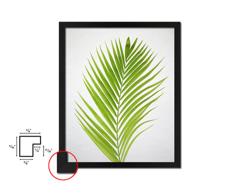 Green Palm Tree Watercolor Tropical Leaf, Framed Print Home Decor Wall Art Gifts