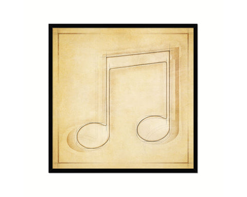 Beam Notes Vintage Musical Symbol Framed Print Orchestra Teacher Gifts Home Wall Decor