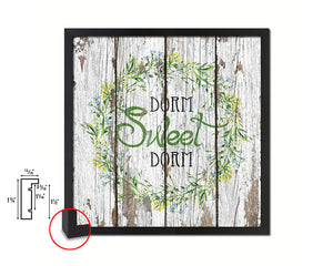 Dorm Sweet Dorm Quote Framed Print Home Decor Wall Art Gifts