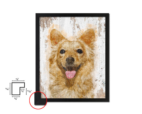 Terrier Dog Puppy Portrait Framed Print Pet Watercolor Wall Decor Art Gifts