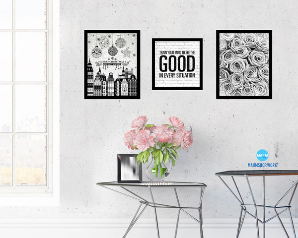 Train your mind to see the good in every situation Quote Framed Print Home Decor Wall Art Gifts