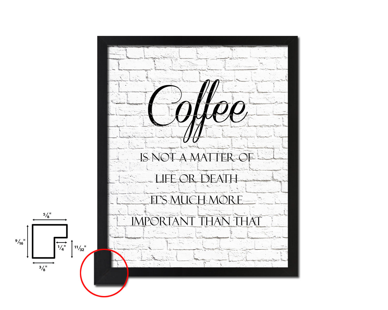 Coffee is not a matter of life or death it's much more important than that Quote Framed Artwork Print Wall Decor Art Gifts