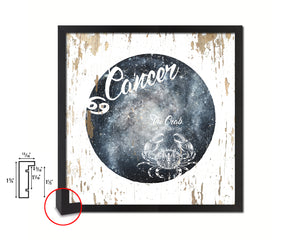 Cancer Astrology Prediction Yearly Horoscope Wood Framed Print Wall Art Decor Gifts