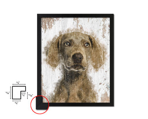 Weimarane Dog Puppy Portrait Framed Print Pet Watercolor Wall Decor Art Gifts
