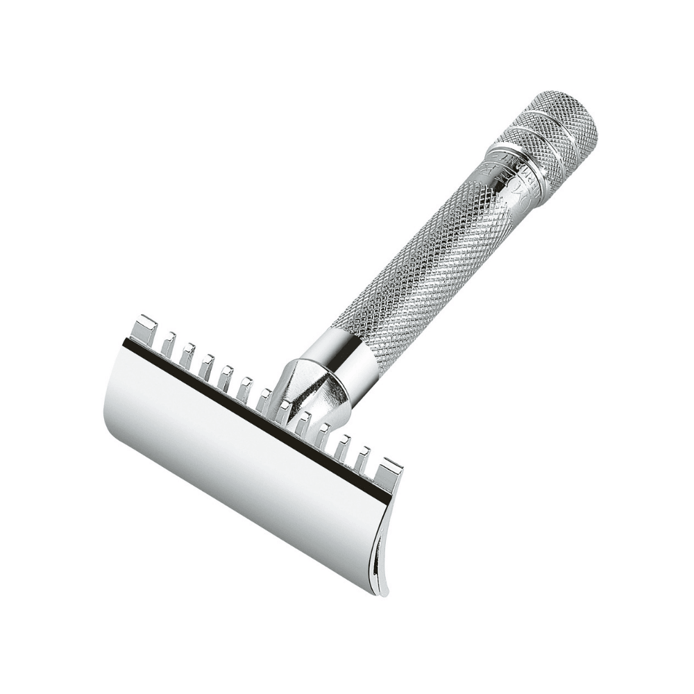 MERKUR 15C Short Handle Open Comb DE Safety Razor Man Of Siam Wet Shave Thailand SiamTonsure