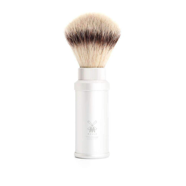 Travel shaving brush by MUHLE Silvertip Fibre® handle material aluminum Man Of Siam Thailand