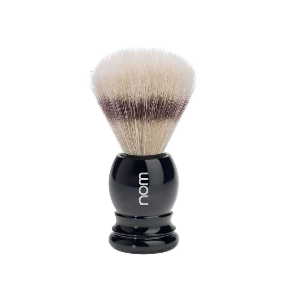 SHAVING BRUSH BY MÜHLE  BOAR BRISTLE BLACK PLASTIC HANDLE Man Of Siam Thailand
