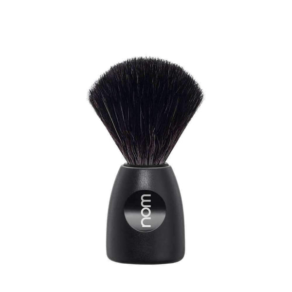 MÜHLE BLACK FIBRE SHAVING BRUSH - NOM LASSE Black plastic handle Man Of Siam Thailand