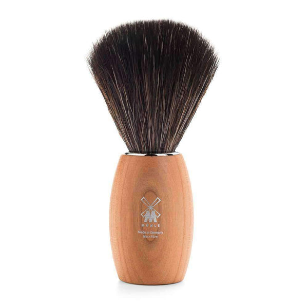 SHAVING BRUSH BY MÜHLE MODERN SERIES  PLUMTREE WOOD BLACK FIBER SHAVING BRUSH Man Of Siam