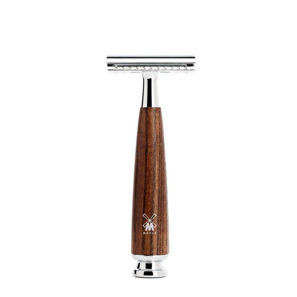 Siam Wet Shave SAFETY RAZOR BY MÜHLE  RYTMO Steamed ASHWOOD Handle Man Of Siam Thailand