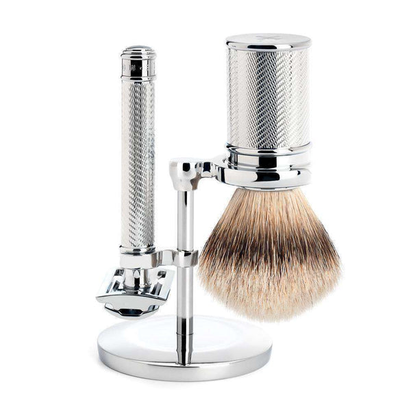 TRADITIONAL SHAVING SET By Muhle Chrome Man Of Siam Thailand