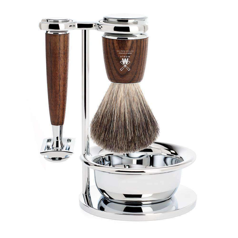 SHAVING SET BY MÜHLE  RYTMO SERIES STEAMED ASH Man Of Siam Thailand