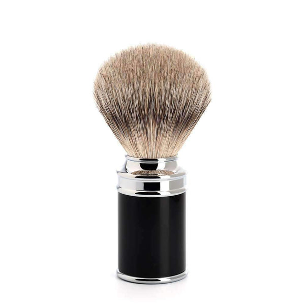 MÜHLE Traditional Silvertip Badger Shaving Brush Black Resin Handle Man Of Siam Thailand