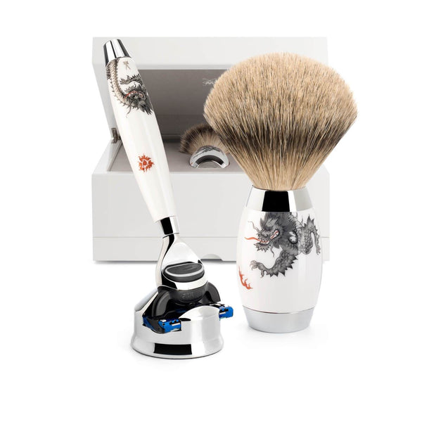EDITION - Shaving set from MÜHLE, material Meissen Porcelain Man Of Siam Wet Shave Thailand