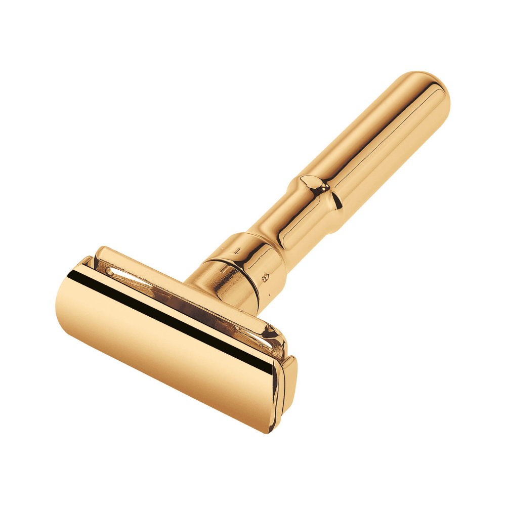 Merkur Futur Satin Gold Finish Safety Razor Man Of Siam wet Shave Thailand