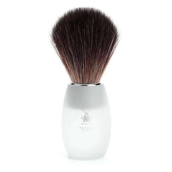 SHAVING BRUSH BY MÜHLE MODERN SERIES ACRYLIC GLASS Handle  BLACK FIBER Man Of Siam Thailand