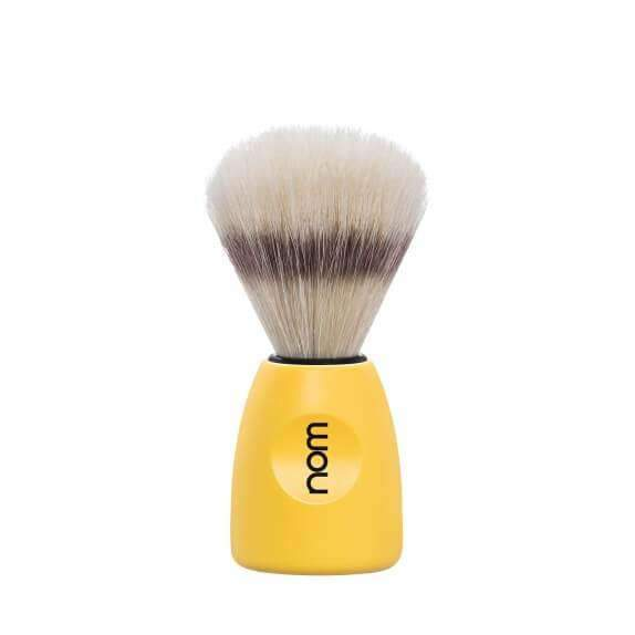 SHAVING BRUSH BY MÜHLE BOAR BRISTLE YELLOW PLASTIC HANDLE Man Of Siam wet shave Thailand