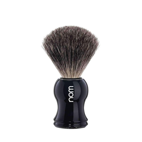 SHAVING BRUSH BY MÜHLE   PURE BADGER Black Plastic Handle Man Of Siam Thailand