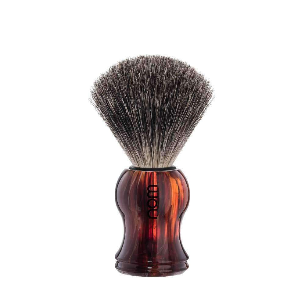 SHAVING BRUSH BY MÜHLE BADGER HAVANNA Plastic Handle Man Of Siam Thailand