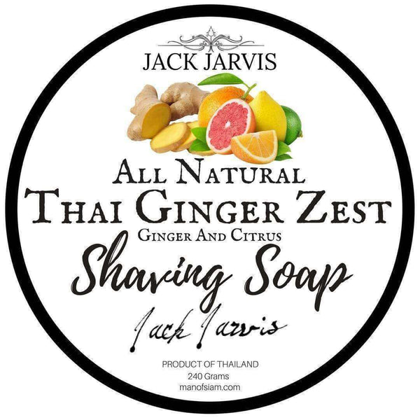 Thai Ginger Zest Shaving Soap JACK JARVIS SHAVING SOAP THAILAND Man Of Siam