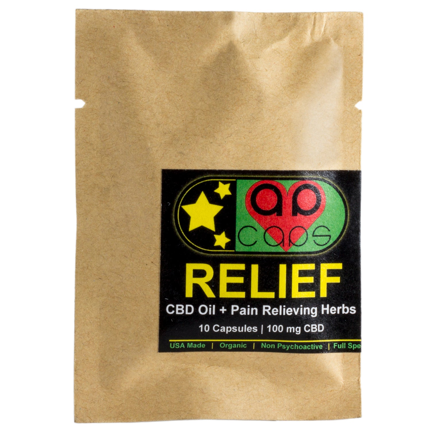 RELIEF (10 Capsules) - CBD plus pain-relieving herbs