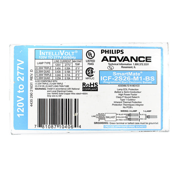 Advance Ballasts ICF-2S26-M1-BS