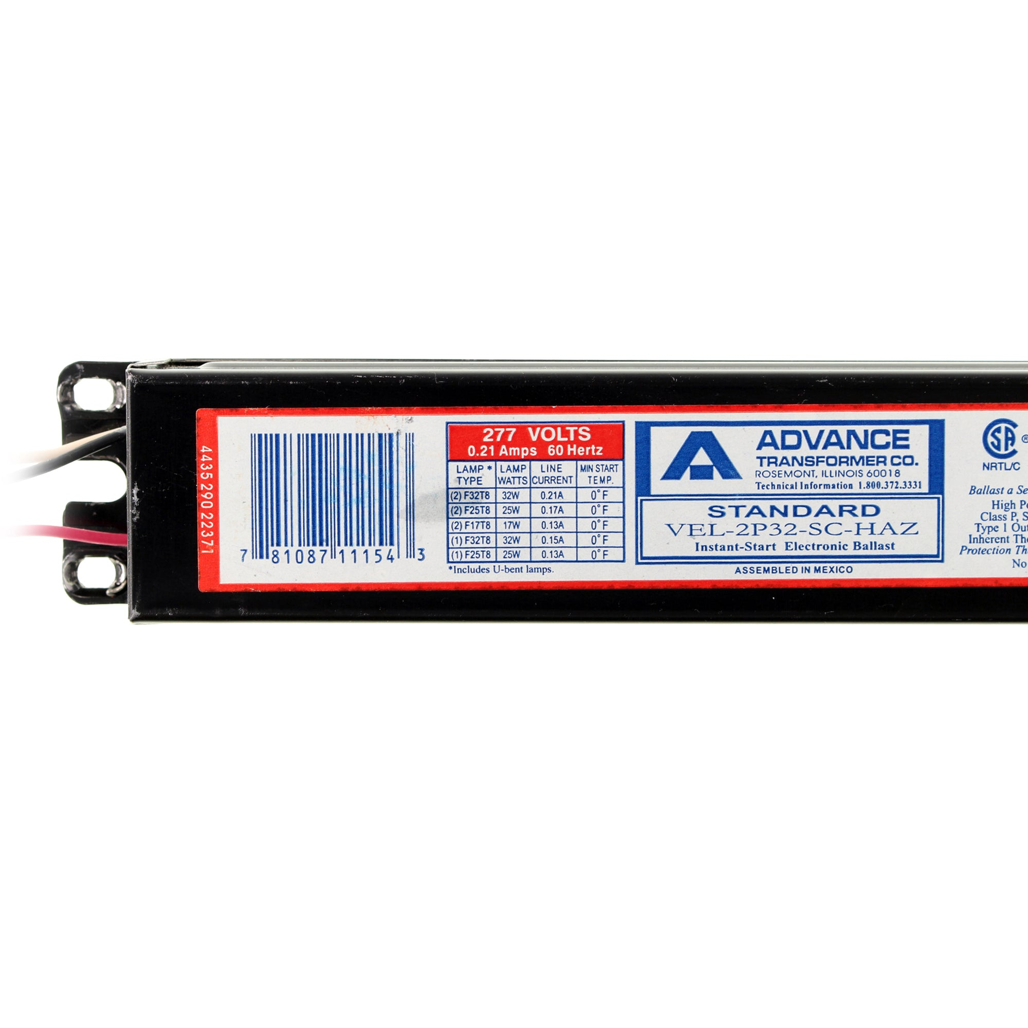 Advance REL-2P32-SC 120V Instant Start Electronic Ballast New