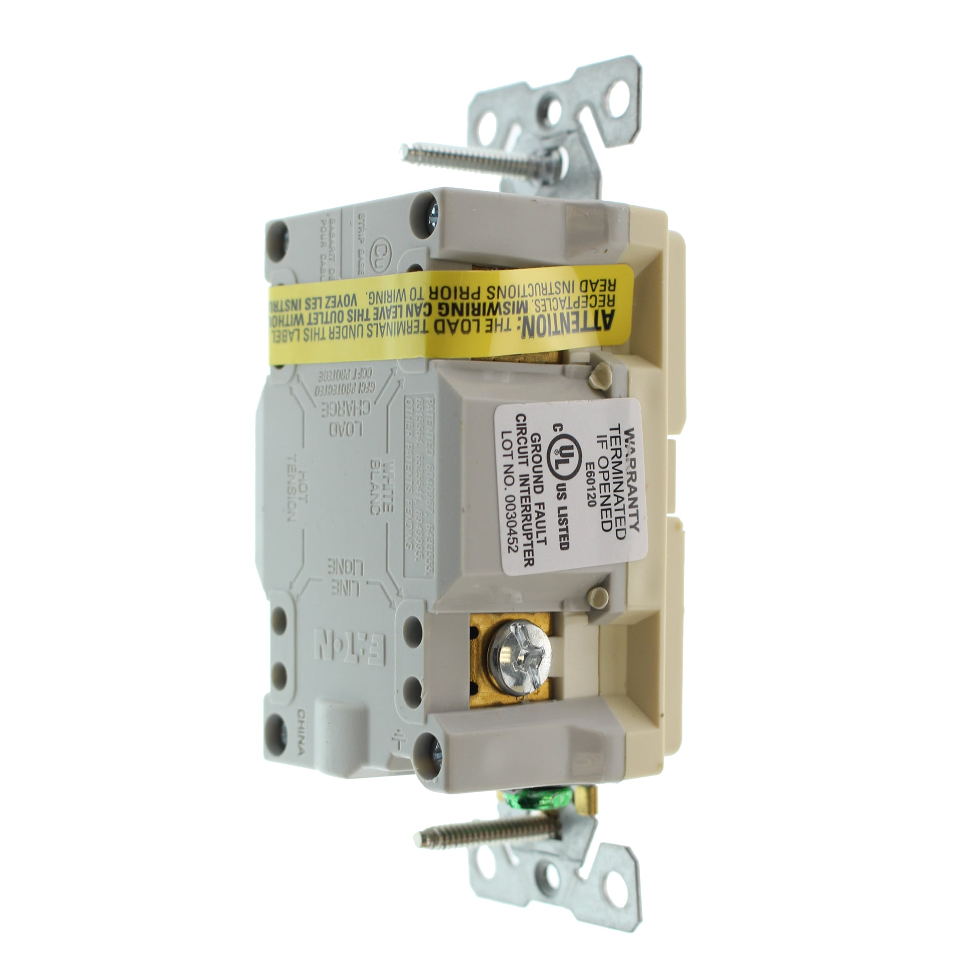 Hubbell Gftrst15i3z Tamper Gfci Receptacle Tr 15a 125v Ivory 3 How To Wire A Ground Fault Circuit Interrupter Other Pack