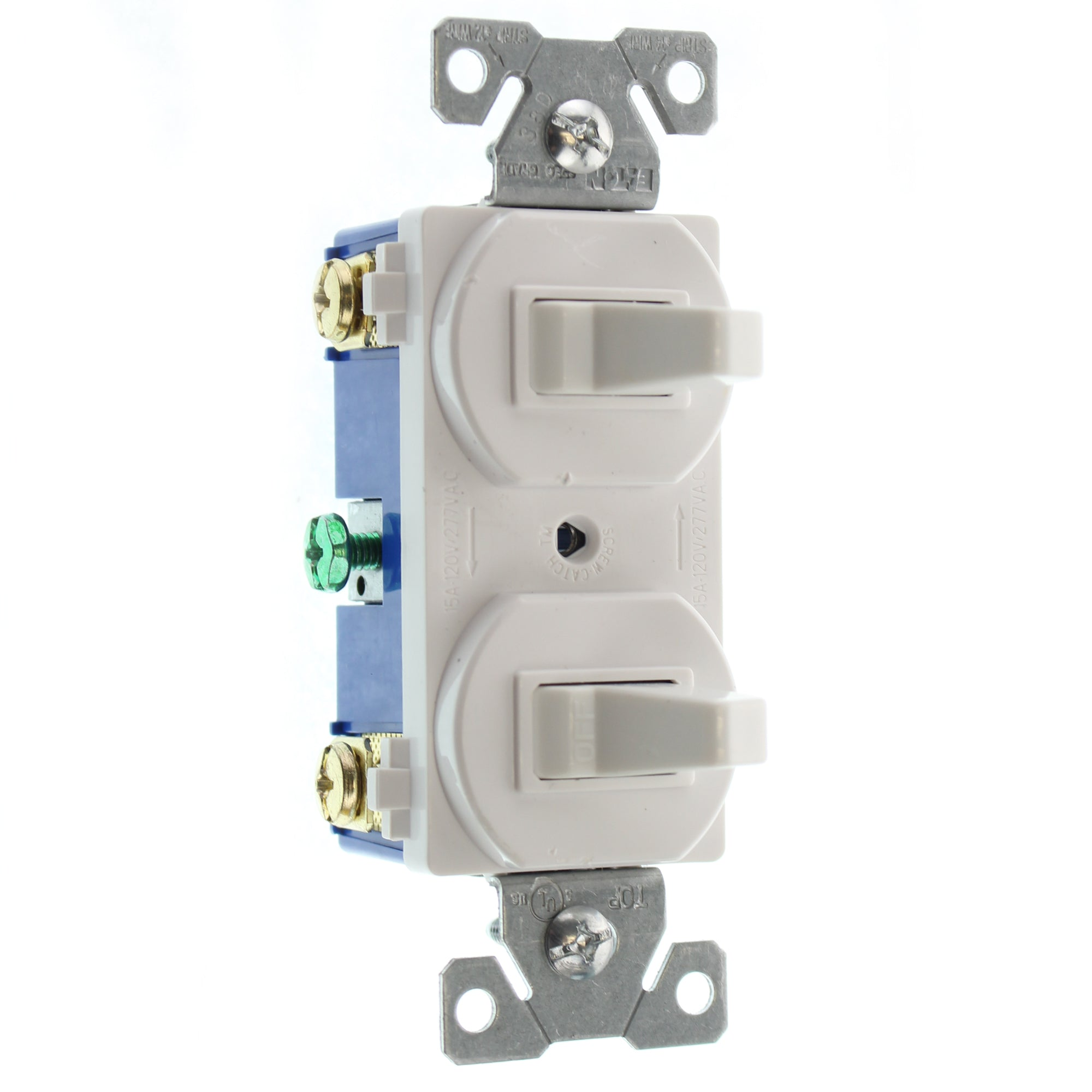 HUBBELL RC103WZ DOUBLE TOGGLE SWITCH, 1-POLE & 3-WAY, 15A, 120/277V ...