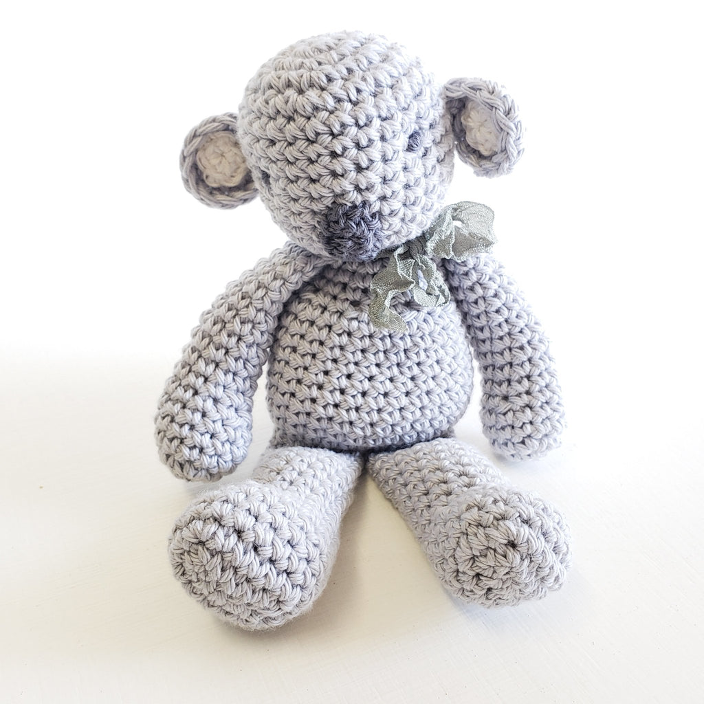 Cotton Koala Baby Toy - All Natural Crochet - Miss Molly's Toys wooden toys Australia
