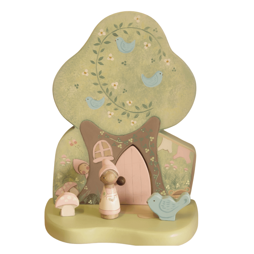 Pixie Treehouse - Peg Doll Play Set - Miss Molly's Toys wooden toys Australia