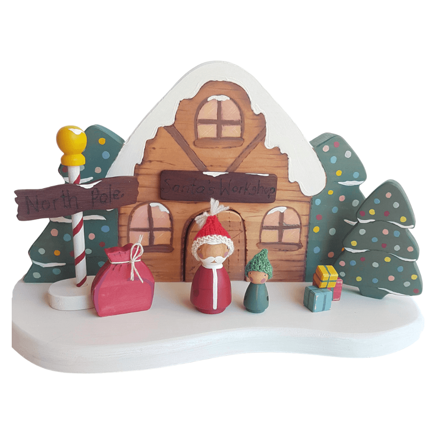 Santa's Workshop Christmas Play Set - Miss Molly's Toys wooden toys Australia