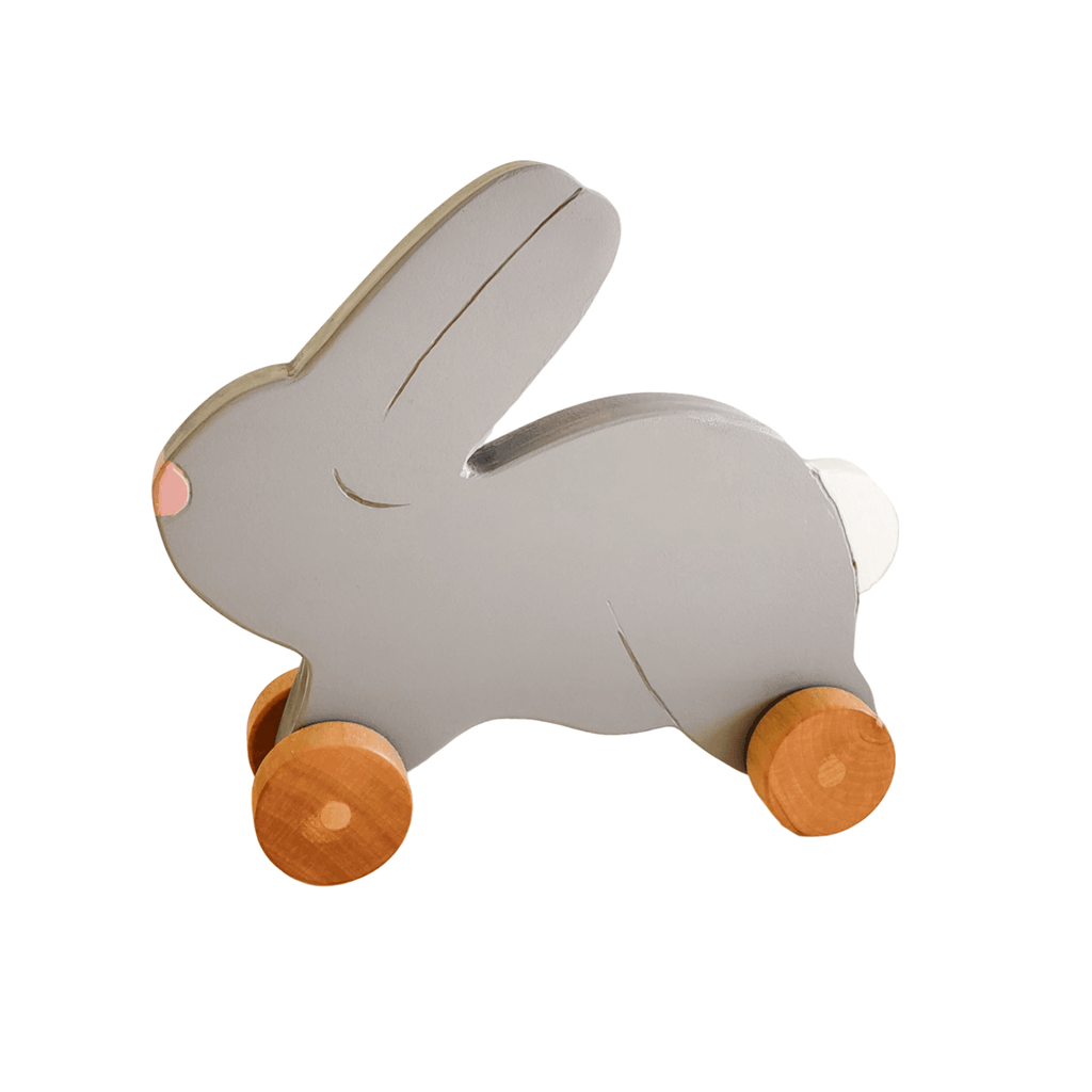 Wheelie Toy - Bunny - Custom - Miss Molly's Toys wooden toys Australia