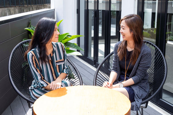 Co-founder and Head of Sales of Hush Home Stephanie Huen with General Manager of Campfire Home Elaine Poon