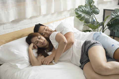 Couple sleeping on Hush Mattress