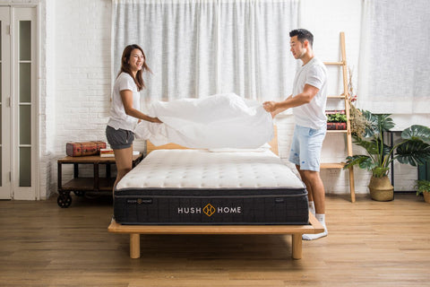 bedsheet-on-a-hush-mattress