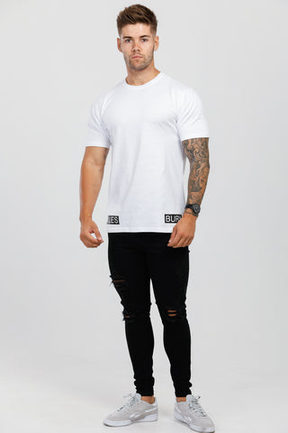 White & Black Crew Neck T-Shirt