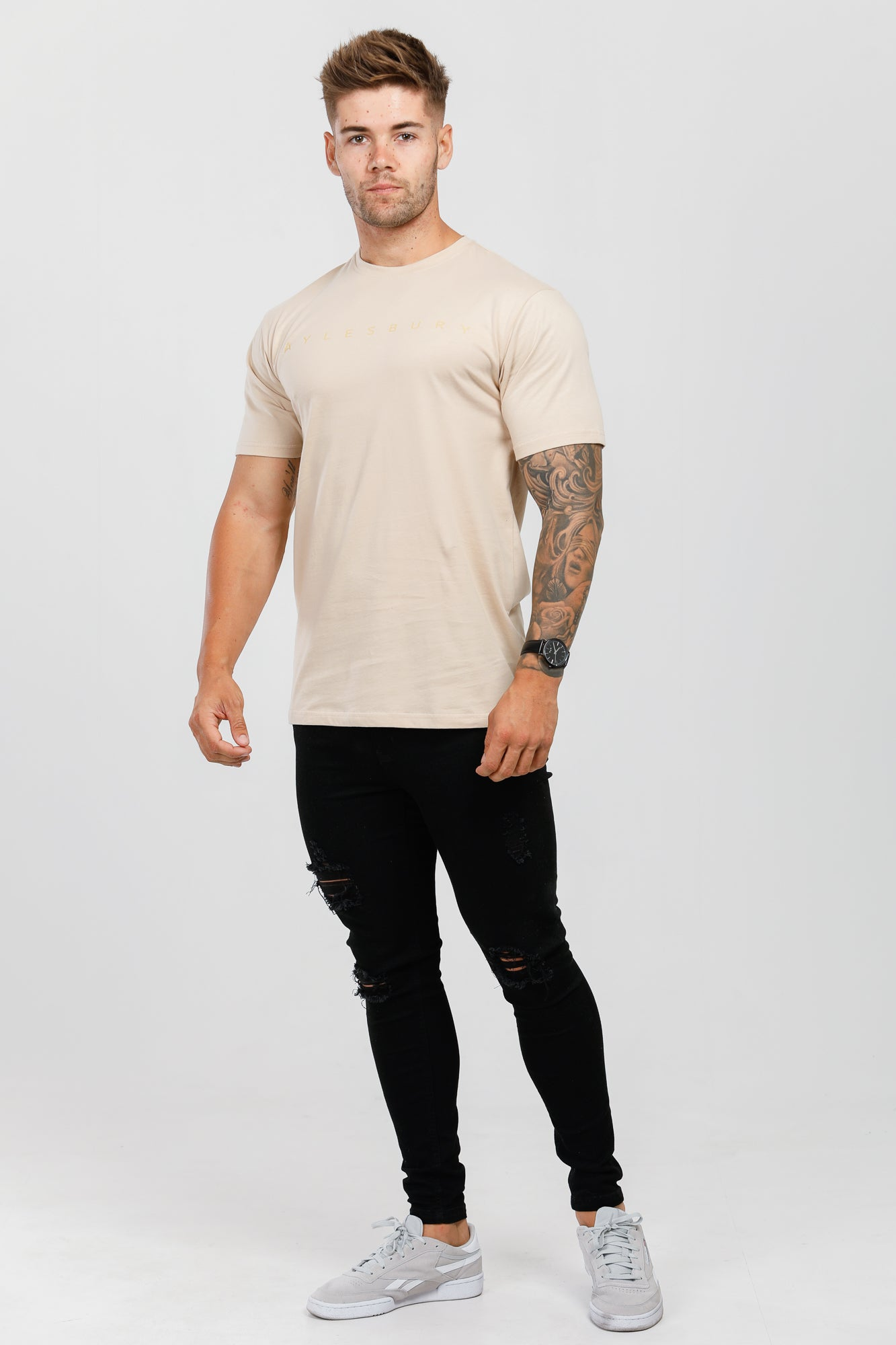 Cream Crew Neck T-Shirt
