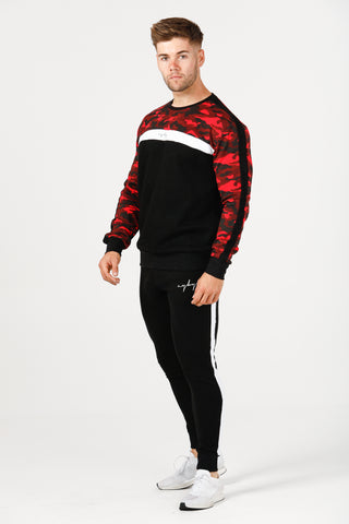 Slim Fit Combat Crew Neck - Red