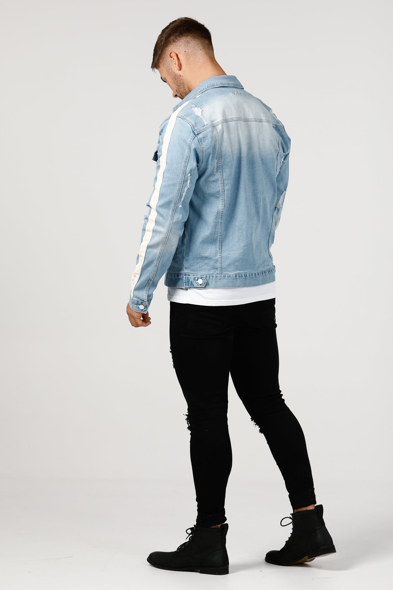 Suede Way Denim Jacket