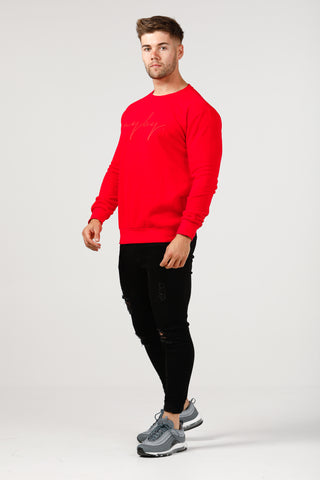 Slim Fit Signature Crew Neck - Red